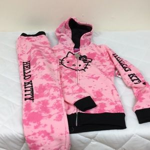 Hello kitty two-piece sweat suit